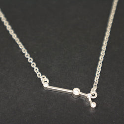 Silver Aries Constellation Necklace