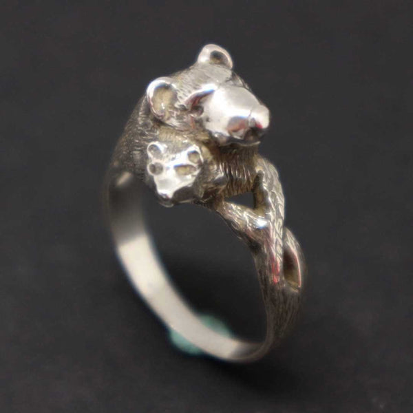 Grizzly Bear Mother and Child Ring
