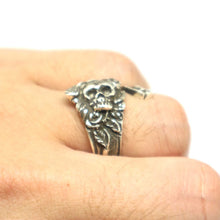 Load image into Gallery viewer, Vintage Inspired Skull Spoon Ring