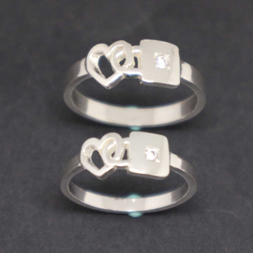 Key and Lock Promise Ring for Couple