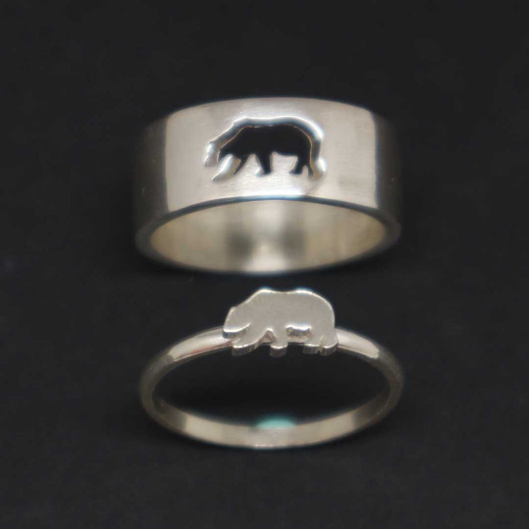 Bear Couple Ring Set