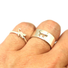 Load image into Gallery viewer, Cat Couple Promise Rings Set