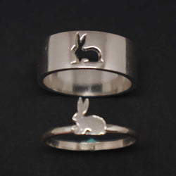 Rabbit Engagement Ring for Man and Women
