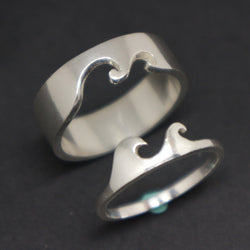 Wave Couple Alternative Wedding Ring