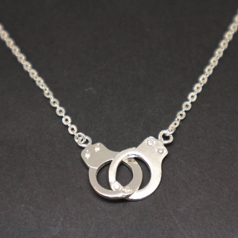 Handcuff Partners in Crime Necklace