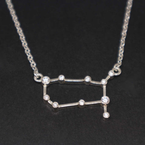 Silver Germini Constellation Necklace
