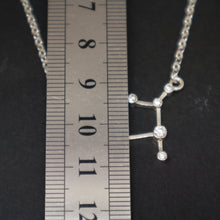 Load image into Gallery viewer, Silver Germini Constellation Necklace