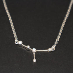 Silver Cancer Constellation Necklace