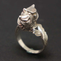 Silver Owl Ring for Mother