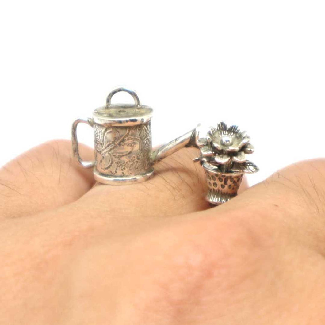 Victorian Watering Pot and Flower Ring