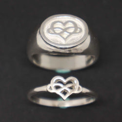 Polyamory Signet and Stacking Ring