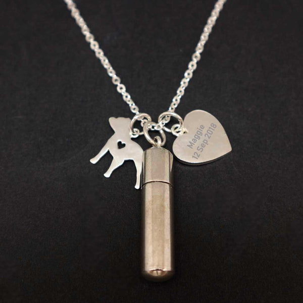 Personalized Pet Lost Cremation Necklace