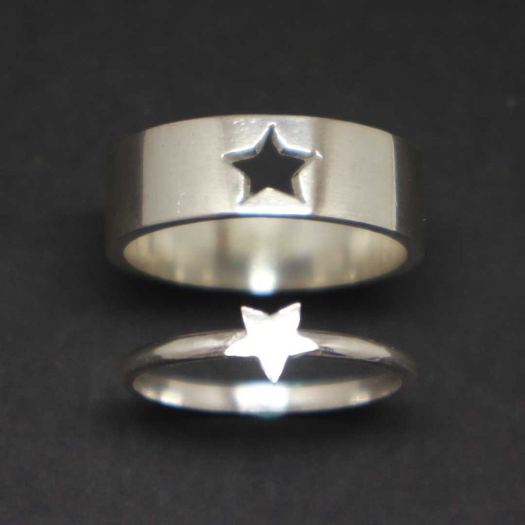 Star Promise Ring Set for Couple