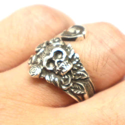 Vintage Inspired Skull Spoon Ring