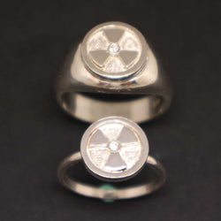Radiology Couple Set Signet Ring