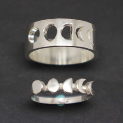 Moon Phases Promise Ring for Couple