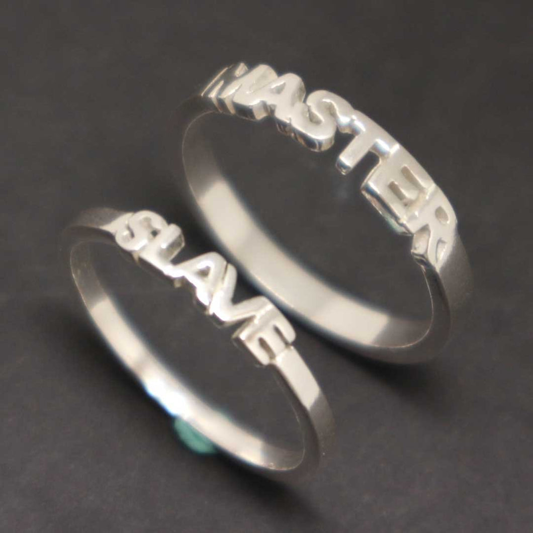 Bdsm Master and Slave Couple Ring