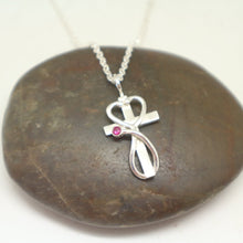 Load image into Gallery viewer, Nurse Prayer Stethoscope Cross Necklace