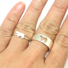 Load image into Gallery viewer, Cow Couple Set Promise Ring