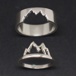 Silver Mountain Couple Ring for Men and Women