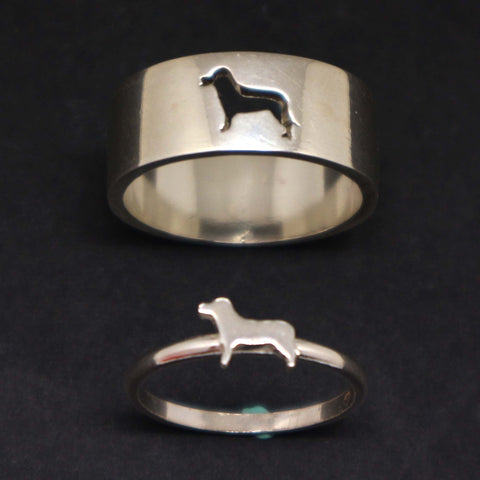 Dog Couple Set Promise Ring