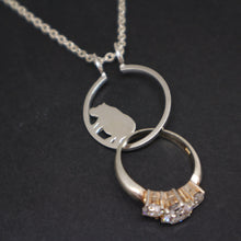 Load image into Gallery viewer, Silver Hippopotamus Ring Holder Necklace