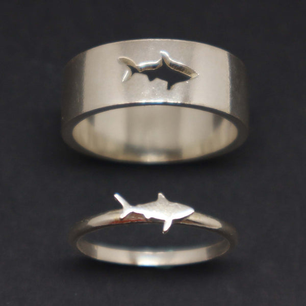 Shark Couple Promise Ring Set