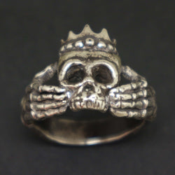 Skull Claddagh Ring for Men