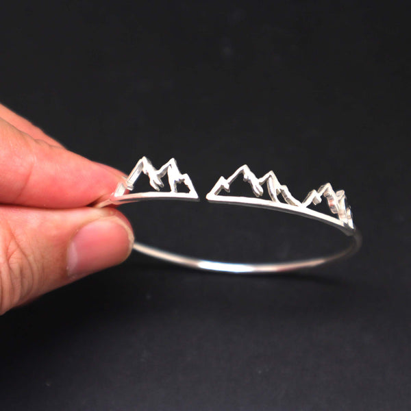 Mother Daughter Mountain Range Bracelet