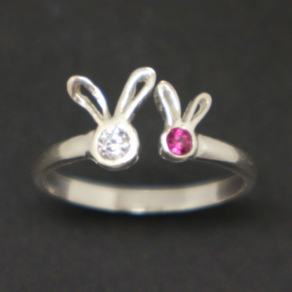 Mother and Child Bunny Ring