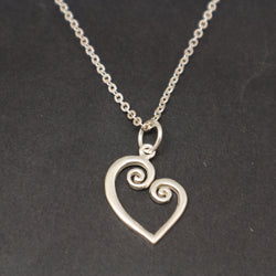 Mother Daughter Spiral Necklace