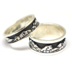 Mountain Wedding Rings for Couples