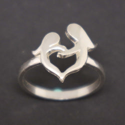 Mother and Daughter Heart Ring