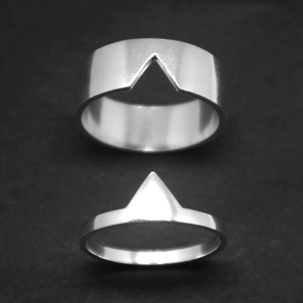 Triangle Couple Set Promise Ring