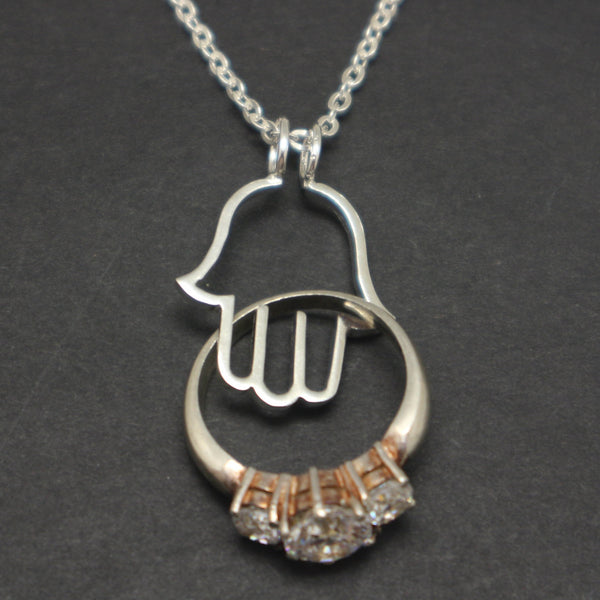 Hamsa Ring Holder Necklace