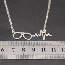 Load image into Gallery viewer, Optometrist Eye Glasses Heartbeat Necklace
