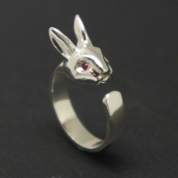 Silver Rabbit Wrap Ring