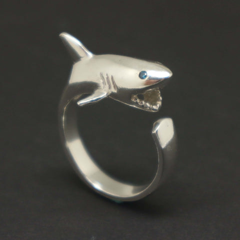 Sterling Silver Shark Ring