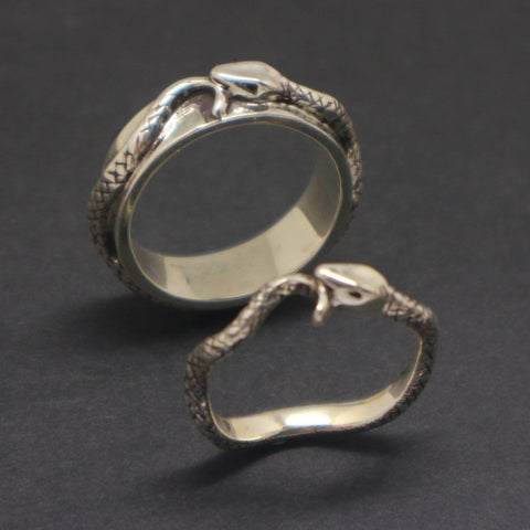 Ouroboros Snake Promise Ring for Couple