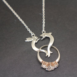 Shark Mermaid Ring Holder Necklace