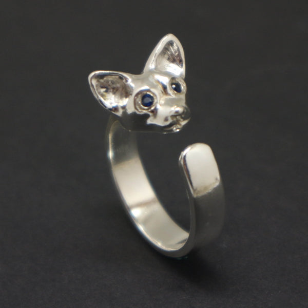 Chihuahua Dog Head Ring