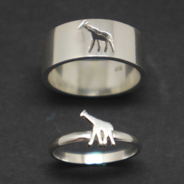 Giraffe Promise Ring for Couple