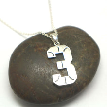 Load image into Gallery viewer, Basketball Necklace with Number 3