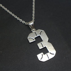 Basketball Necklace with Number 3