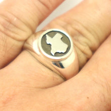 Load image into Gallery viewer, Silver Texas Signet Ring