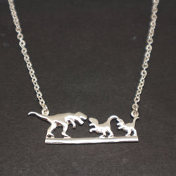 Dinosaur Mother Daughter Necklace