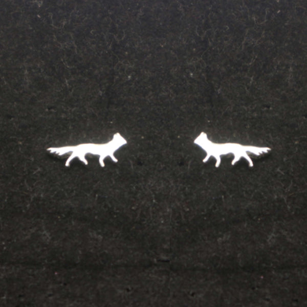 Silver Fox Stud Earring