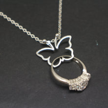 Load image into Gallery viewer, Butterfly Ring Holder Necklace