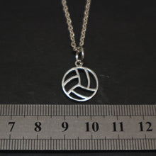 Load image into Gallery viewer, Silver Volleyball Necklace