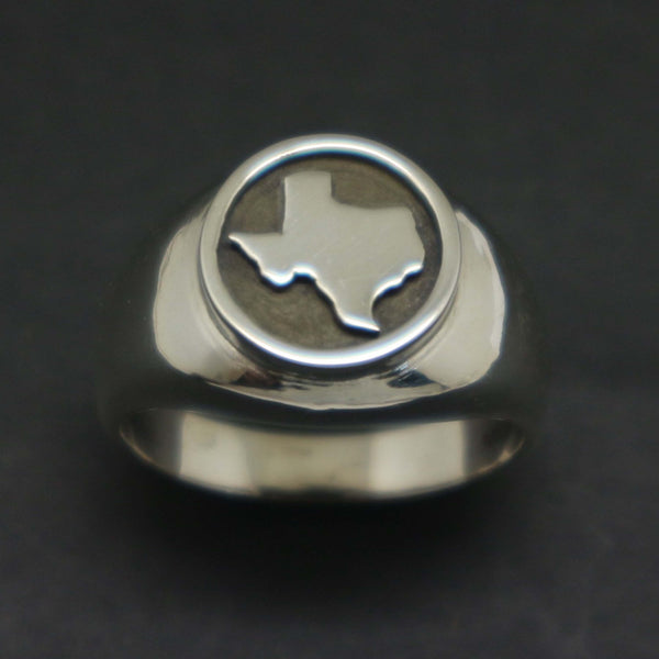 Silver Texas Signet Ring
